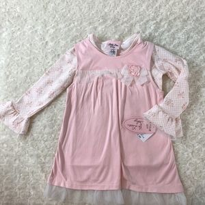 New Little Lass Baby Sz 3T Girls Long Bell Sleeve
